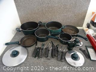 Pots, Pans, Prep Set,