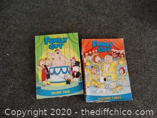 Family Guy DVDS Seasons 3 & 4