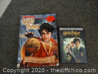 Harry potter DVD & Coloring Book