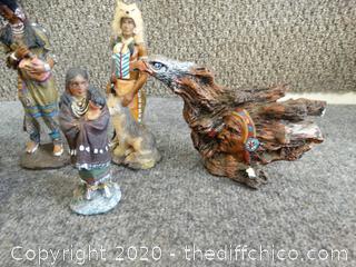 Native American Decor Statues
