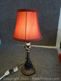 Working Lamp With Red Shade