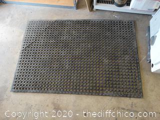 """Rubber Floor Mat 62"""" x 42"""" See pics"""