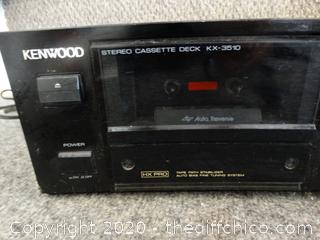 Kenwood Cassette Player Powers ON