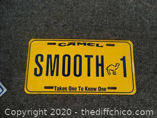 Camel Smooth License Plate