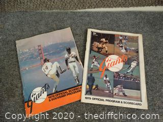 1979 SF Giants Baseball Magazines