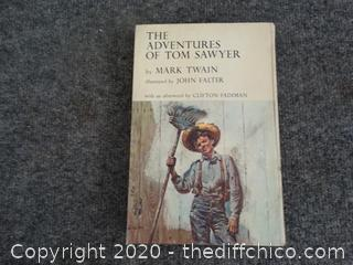 1962 The Adventures Of Tom Sawyer by Mark Twain Book