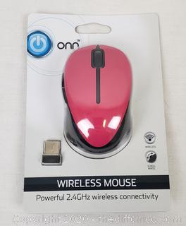 *NEW* Onn Wireless Mouse PINK
