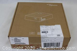 NEW ($261) Optoma LV130 WVGA Palm Size 300 Lumen Projector