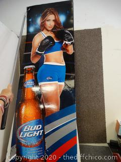 Bud Light  Boxer Girl Cardboard Poster