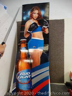 Bud Light  Boxer Girl Cardboard Poster