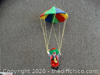 Hanging Pogo collectible porcelain clown