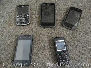 Cell Phone Lot - untested