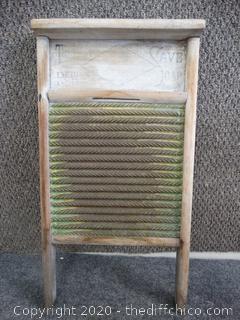 "Antique Washboard - 23 1/2"" x 12 1/2"""