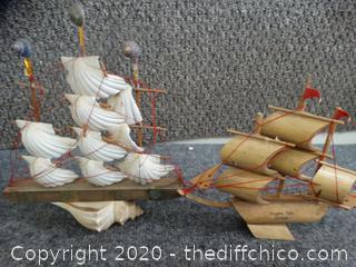 Shell & Wooden Model Ships
