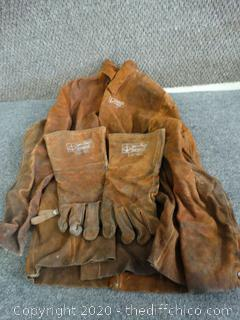 Anchor Brand Leather Welding Jacket & Gloves