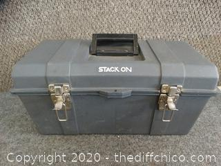 Stack-On Tool Box w/ contents