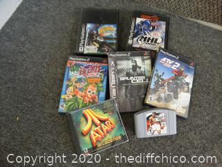 Mixed Videogames Lot (PS2, PS, Atari, Nintendo)