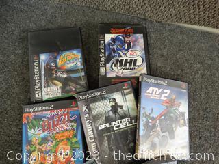 Mixed Videogames Lot (PS2, PS, Atari, Nintendo)