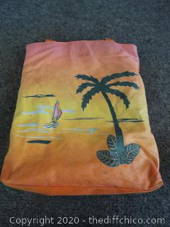 Orange Hawaiian Bag