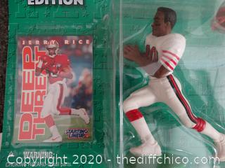 Jerry Rice & Junior Seau 1996 Collectible Figurines