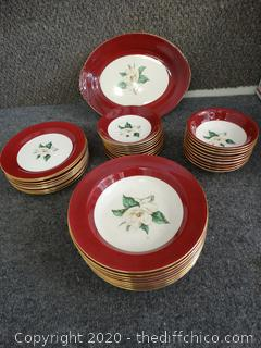 Rose Burgundy dish set