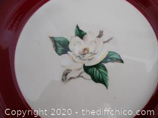 Rose Burgundy dish set