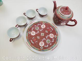 BEAUTIFUL CHINA TEA SET 6 PIECES
