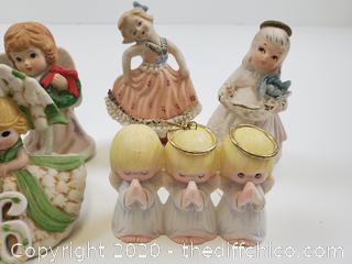 Angel porcelain figures