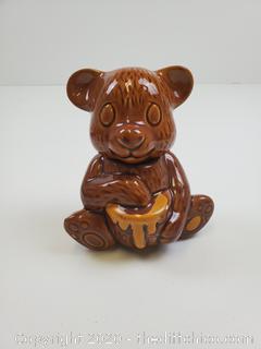 BEAR WITH HONEY CERAMIC JAR
