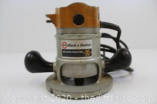 Vintage USA Black and Decker Deluxe Router Corded Electric Model 7616 - Tested