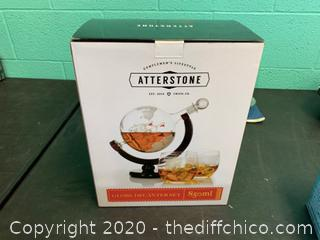 Atterstone Globe Whiskey Decanter Set (J5)