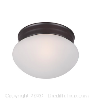 Maxim 5884FTOI 1 Light 8 inch Oil Rubbed Bronze Flush Mount Ceiling Light (J7)
