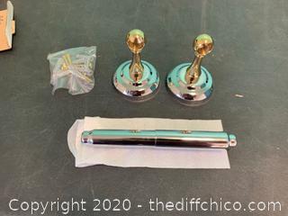 Moen CSI BP308CB Brighton Toilet Paper Holder - Chrome/Polished Brass (J11)