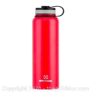Winterial 40oz Stainless Steel Water Bottle - Red (J51)