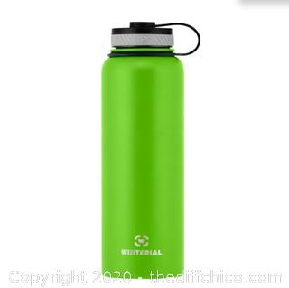Winterial 40oz Stainless Steel Water Bottle - Green (J55)