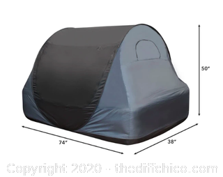 Winterial Pop-up Indoor Privacy Bed Tent - Twin Size (J69)