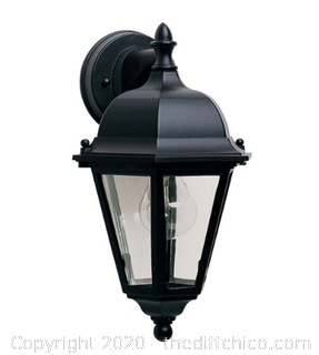 Maxim 1000BK Westlake 1 Light 15 inch Black Outdoor Wall Mount (J73)
