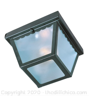 Maxim 6203FTBK Outdoor Essentials - 620x 1 Light 8 inch Black Outdoor Ceiling Mount (J75)
