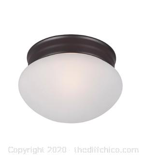 Maxim 5884FTOI Essentials - 588x 1 Light 8 inch Oil Rubbed Bronze Flush Mount Ceiling Light (J77)