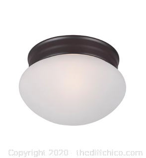 Maxim 5884FTOI Essentials - 588x 1 Light 8 inch Oil Rubbed Bronze Flush Mount Ceiling Light (J78)