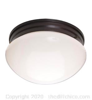 Maxim 5881WTOI Essentials - 588x 2 Light 9 inch Oil Rubbed Bronze Flush Mount Ceiling Light (J80)