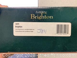 Moen Brighton 386PB Polished Brass Towel Ring (J84)