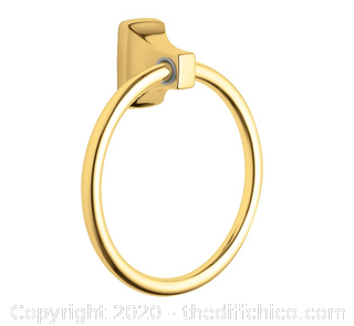 Moen P5860PB  Contemporary Polished Brass Towel Ring (J94)