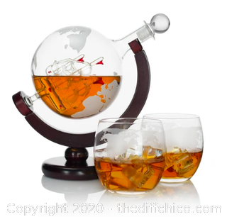 Atterstone Globe Whiskey Decanter Set (J106)
