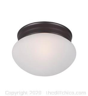 Maxim 5884FTOI 1 Light 8 inch Oil Rubbed Bronze Flush Mount Ceiling Light (J107)