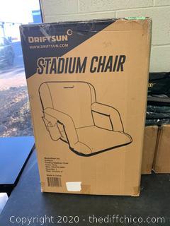 Driftsun Folding Stadium Seat, Reclining Bleacher Chair - Standard Grey (116)