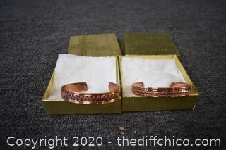 2 Sold Copper Bracelet