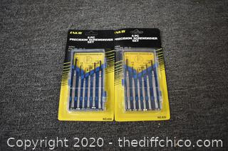2 NIB - 6 Pc Precision Screwdriver Set