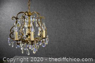 Vintage Working Crystal Chandelier