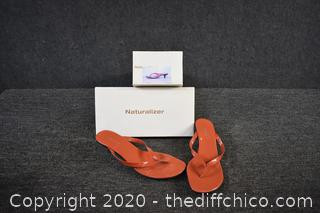 Naturalizer Orange Sandals w/box - size 11